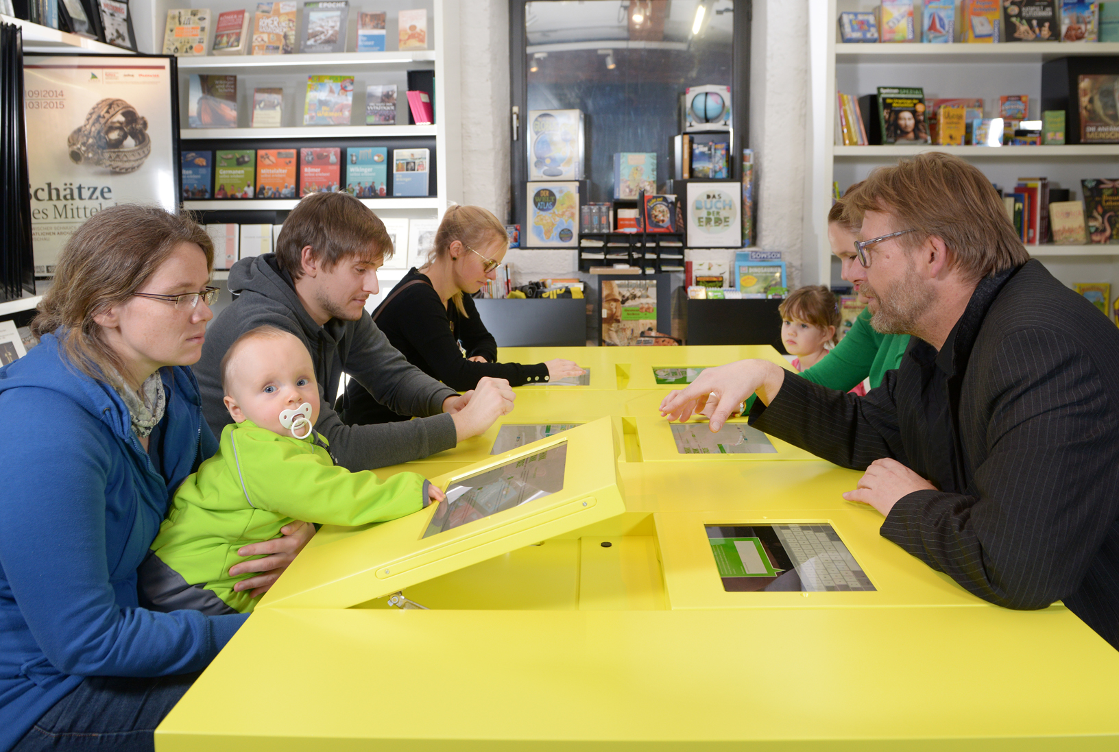 Diskussion mit Familien am Think Tank
